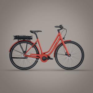 E-FLY Via – Mat orangerød  Demo Cykel. str. 50