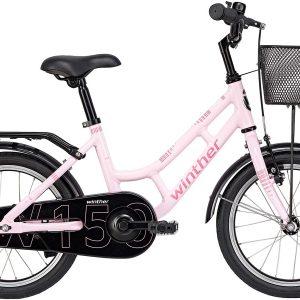 Winther 150 Pige 16in 1 gear Lyserød m. pink 2019