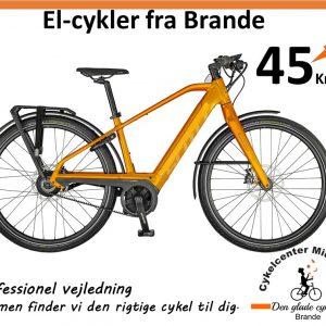Europas fedeste el-cykel. Scott Silence Speed Pedelec. dobbelt op på Batteri.
